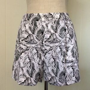 Black & White Foliage Soft Shorts